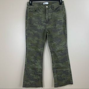 Tinsel Camouflage crop flare jeans Size 30